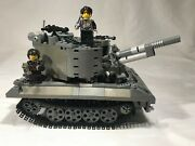 Lego Custom Moc Army Military Tank With Minfigures Real Lego Parts