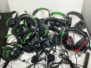 Lot Of 13 Assorted Xbox One Headsets Wired Untested