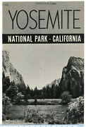 Ad1-e 1942 Yosemite National Park Booklet 15 Pages Dept Interior 113a