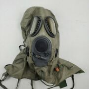 Vintage M17a2 Usa Military Chemical Biological Gas Field Mask With M6a2 Hood