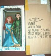 Disney Store Brave Merida And Queen Elinor Doll Set Limited Edition 2000