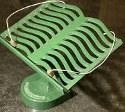 Victor England Green Cast Iron Enamel Cookbook Recipe Bible Book Stand Easel