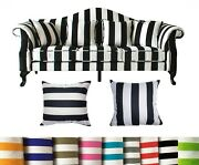 Tailor Madecoverstrip Cotton Canvas Pillow Cushion Cover Thow Floor Sofa Ak3
