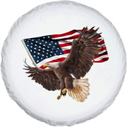 Jayke Joy Spare Tire Cover White Wheel Cover With American Eagle Usa Flag Pvc