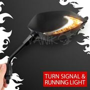 Vawik Lucifer Led Side Mirrors Neat Stem Drl Indicator M8 8mm Fits Scooter Andepsilon