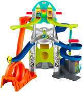 Little People Launch And Loop Raceway Light-up Vehicle Playset For Todlers Gmj12