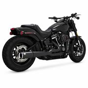 Vance And Hines Pro Pipe Black Exhaust System, 2018-2021 Harley Softail