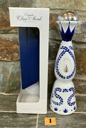 1 Signed Hand Painted Clase Azul Tequila Empty Bottle Make A Lamp Vase Hookah