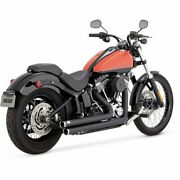 Vance And Hines Big Shots Softail Black Staggered Exhaust Fls, Fxs, Flst