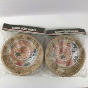 12 Vtg Bamboo Paper Plate Holders Made In China 2 Packs Of 6 New In Bags