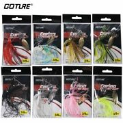 8 Pcs/lot Spinnerbait Fishing Lure 10g Freshwater Fast Searching Bait Tools