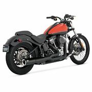 Vance And Hines Pro Pipe Black Exhaust System Harley, 2012-2017 Softail Fls