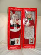 Telco Motionettes Of Christmas Animated And Illuminated Santa And Mrs Claus Figure