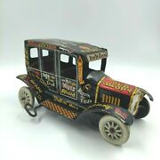 Vintage Marx Tin Litho Jalopy Key Wind Up 1940and039s Or 1950and039s Free Shipping