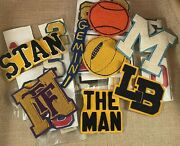 Lot Of 45 Vintage Letter Jacket/sweater Chenille Number, Letter And Custom Patches