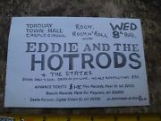 Vintage Eddie And The Hot Rods Concert Flyer Torquay The States 1970s Original