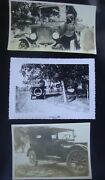 3 - Original Photos Of Antique Cars 1917 Dodge Touring And Model A Or T