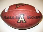 Upset Of All Time Appalachian State Game Used Wilson 1005 Football V Michigan