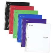 Spiral Notebook 5 Subject College Ruled Paper 200 Pack Of 6 Assorted