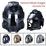 Motorcycle Helmet Full Face Tactical Helmet With Mask Visor Goggles Cosplay