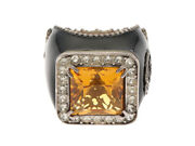 Crystal Detail Gg Logo Signet Ring Sv 26.9g 13 Collection Shippingfree