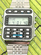 Excellent Vintage Casio Data Bank Cd-401 Lcd Watch Calculator Phone Book