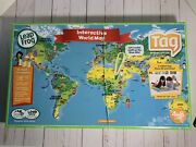 Leap Frog Tag Leapreader Interactive World Map Two Sided