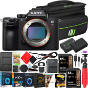 Sony A7r Iii Full Frame Mirrorless Camera Ilce7rm3a/b Body And Accessories Bundle