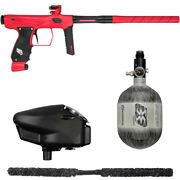 Sp Shocker Amp Competition Paintball Gun Package Kit - Red/black W/ 48/4500