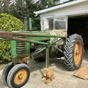 John Deere Tractor Model A Runs Well Trip Bucket Chains Used Vintage