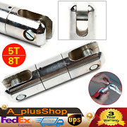 5t/8t Cable Pulling Swivel Wire Line Rope Puller Ball Bearing Connector Silver