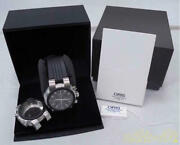 Used Oris Tt1 7521 Chronograph Automatic Menand039s Watch With Case And Warranty