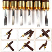 6 Pcs Set Sandalwood Edger Stainless Steel For Leather Paper Cutting Tool Craft