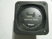 Vintage Kenyon Marine Nautical Miles Guage, Replacement For A Yacht, Boat, Ship