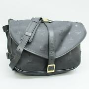 Mcm Pvc Coated Canvas Crossbody Shoulder Bag Purse Black Made In Germany
