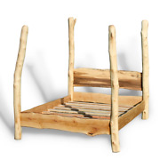 Handmade Bespoke Wooden 4 Poster Tree Bed Recycled Driftwood Rustic Reclaimed