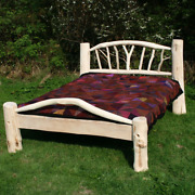 Handmade Bespoke Wooden Bed Recycled Driftwood Eco Frame Rustic Reclaimed