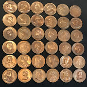 Lot Of 36 Usa Presidents 1.5andrdquo Token Coin Medals - Great Price 🔥
