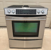 Jenn-air Electric Downdraft Range Oven Grill Convection Stove Jes9860bas Tested