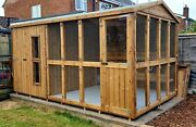 Rabbit Hutch With Run And Cover/cattery/kennel/garden/bespoke