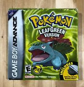 Pokemon Leaf Green Version For Gba With Original Box And Inserts
