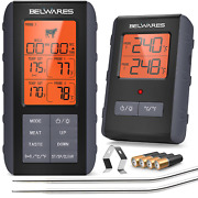 Meat Thermometer Wireless - Digital Grill Thermometer For Outside Grill, Bbq For