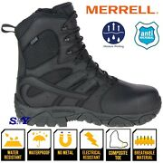 Merrell 8 Menand039s Tactical Waterproof Comp/soft Toe Moisture Wicking Boots Astm