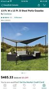 Two Outdoor Steel Gazebos 13ft X 13ft One For 400 Two For 700