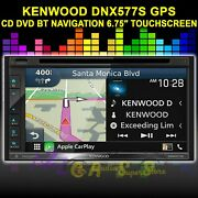 Kenwood Dnx577s Navigation Gps Bt Cd Dvd Apple Car Play Android Auto 6.75 Touch