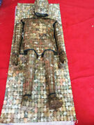 68 Old Chinese Jade Dynasty Palace Piece Assemble Jade Clothing Mat Statue