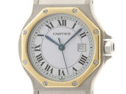 Santos Octagon Womenand039s Watches Automatic Winding White Dial Stainless