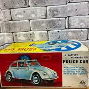Alps Volkswagen Motorized Electonic Toy Police Car 1960s Antique Good Working