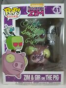Rides Funko Pop - Zim And Gir On The Pig - Signed By 5 Actors - No. 41