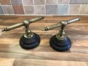 Antique Brass Ships Captains Chart Table Weights Maritime Marine Boat Nautical